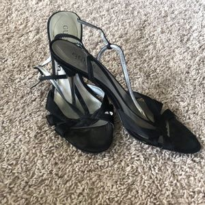 Black Heeled Guess Sandals